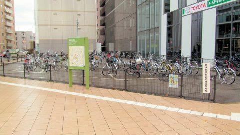 金沢駅西暫定自転車駐輪場